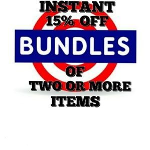 🛍INSTANT 15% OFF BUNDLES OF TWO OR MORE ITEMS🛍